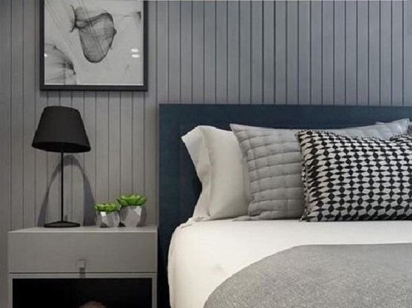 Modelo de criado mudo cinza para quarto