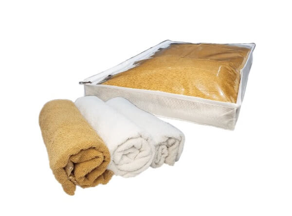 Modelo de organizador e protetor de toalhas (cama, mesa e banho)