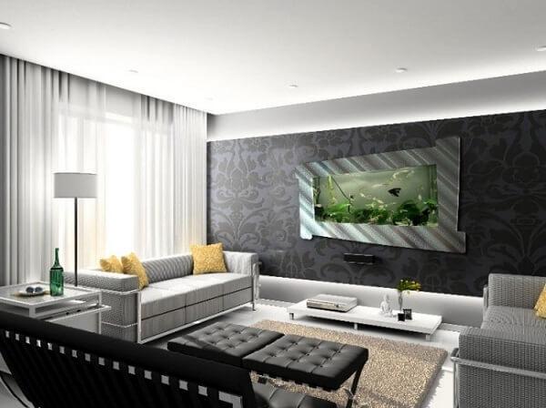 As plantas para aquário se tornam uma linda pintura em movimento na sala de estar