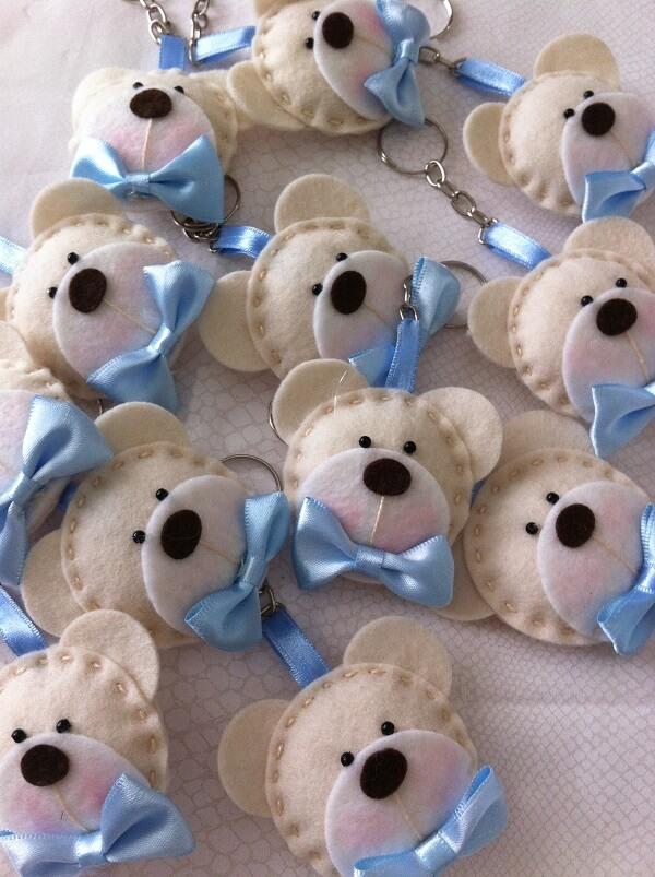O chaveiro em feltro de ursinhos encanta todos os convidados