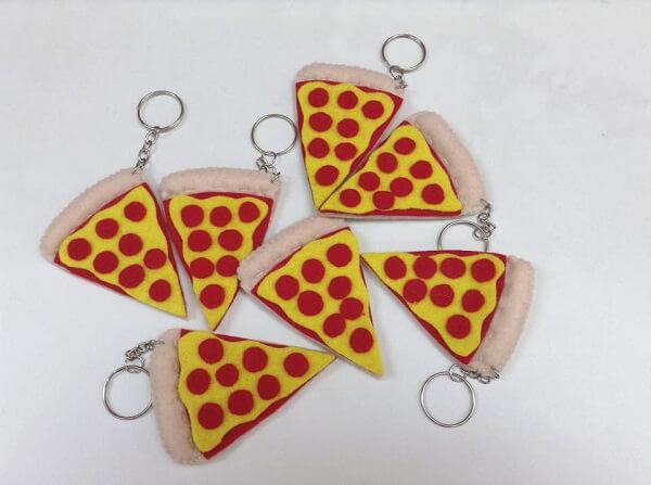 Para os amantes de uma boa pizza essa se torna uma excelente opção chaveiro
