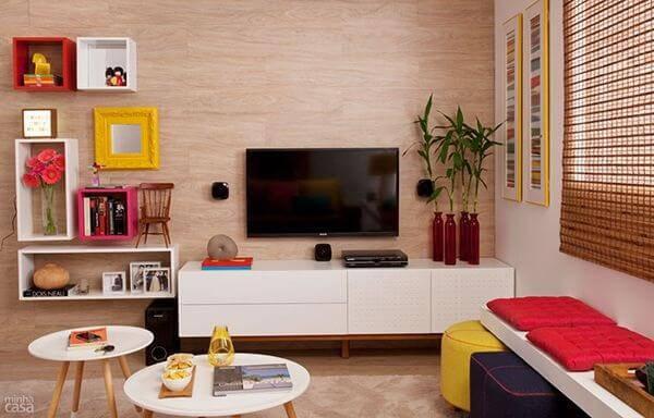 Puffs colorido sala