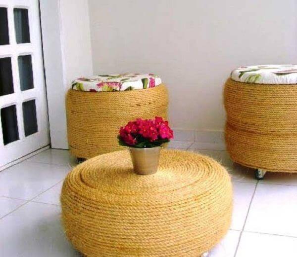 Puffs de pneu trabalhado