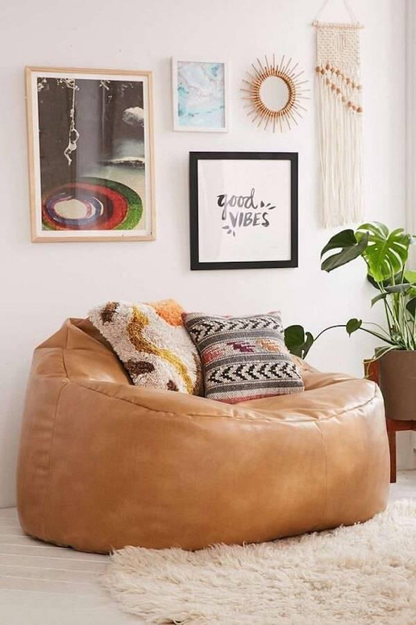 Puffs gigante marrom