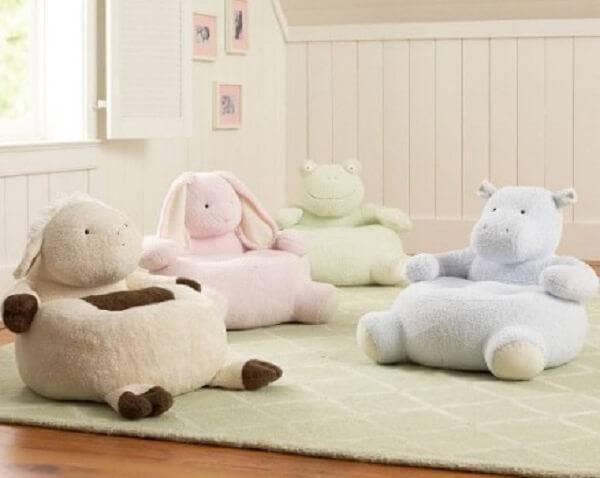 Puffs infantil em forma de animais