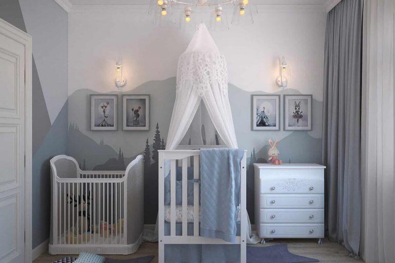 Quarto de bebê cinza capa