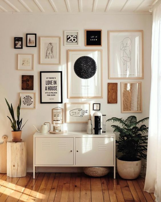 Rack retro branca para cantinho de cafe charmoso