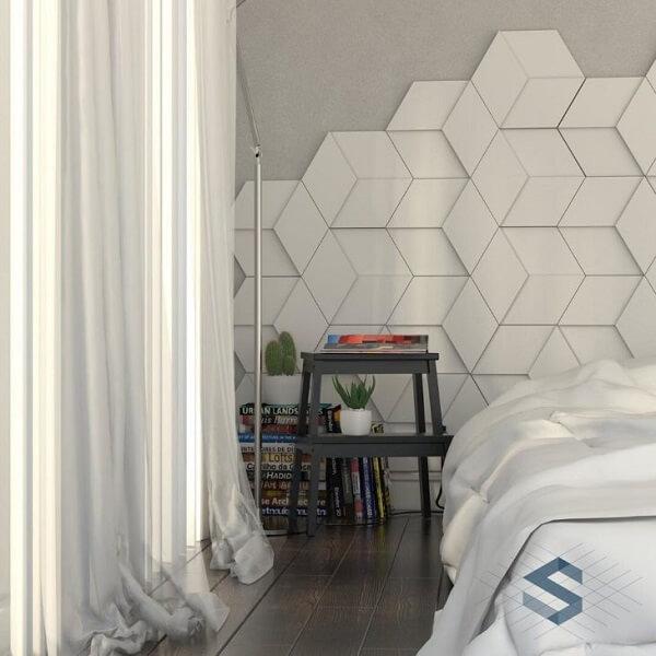 Renove seu dormitório utilizando cerâmica na parede