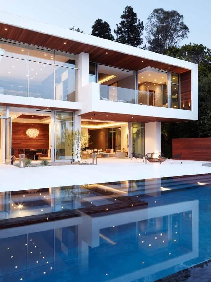 arquitetura para casas de luxo modernas com piscina Foto Pinterest
