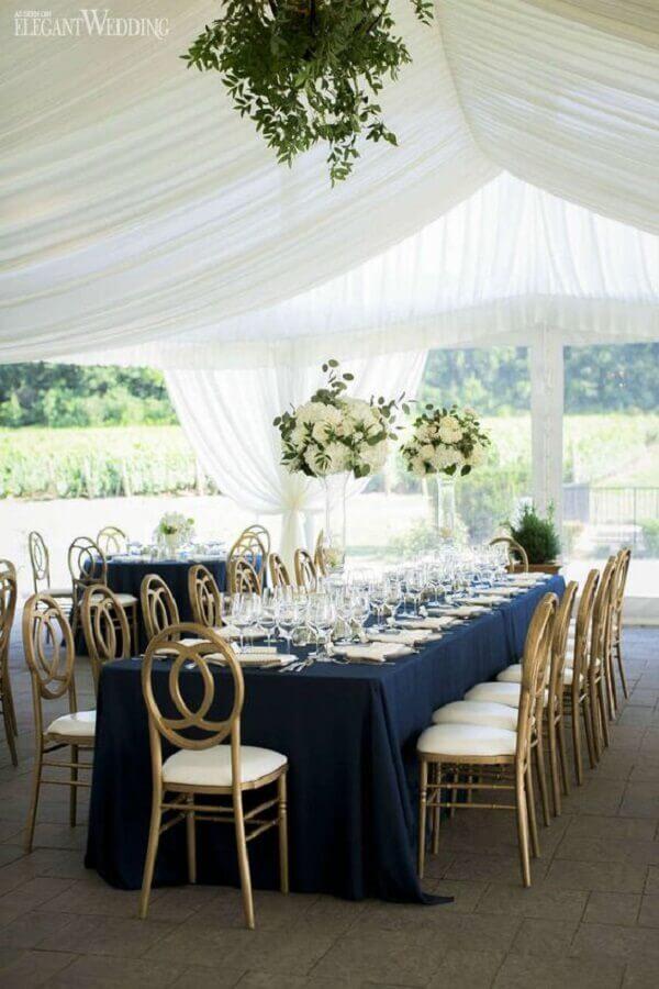 azul e branco como cores para casamento Foto Elegant Wedding