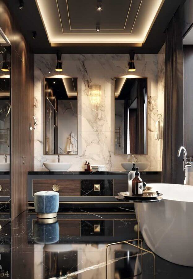 banheiro sofisticado para casas de luxo por dentro Foto Architizer