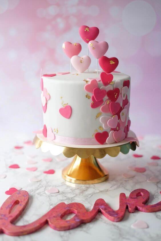 Ideias para dia dos namorados com bolo decorado