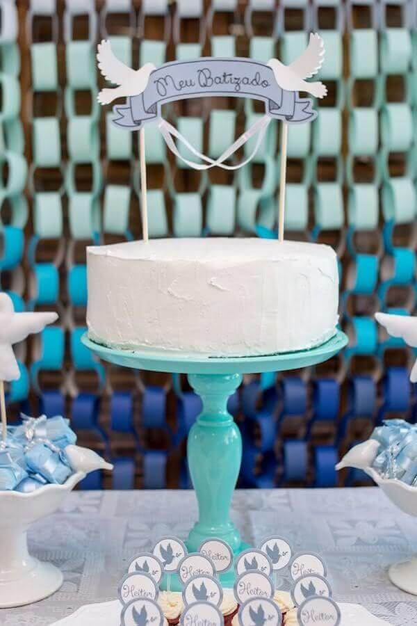 simple cake christening decoration boy Photo Constance Zahn