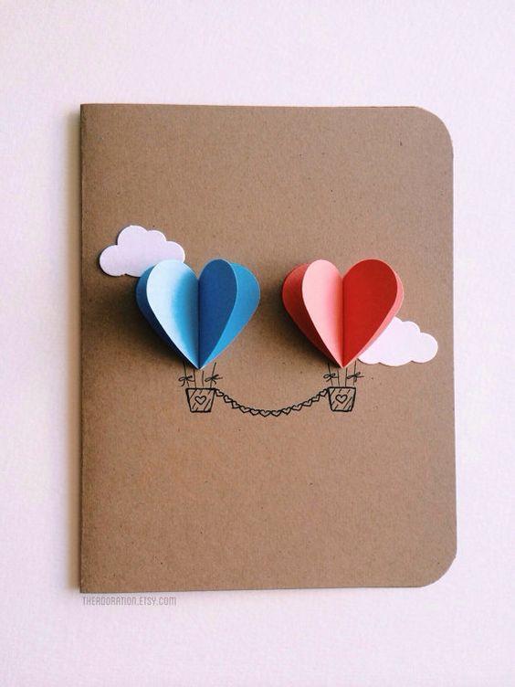 Cartão romântico ideias para dia dos namorados