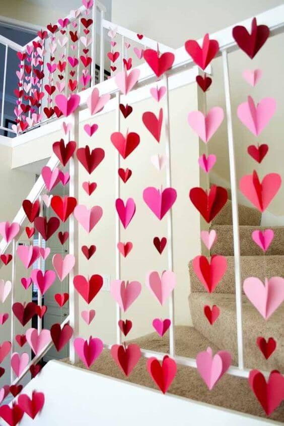 Casa decorada com corações ideias para dia dos namorados