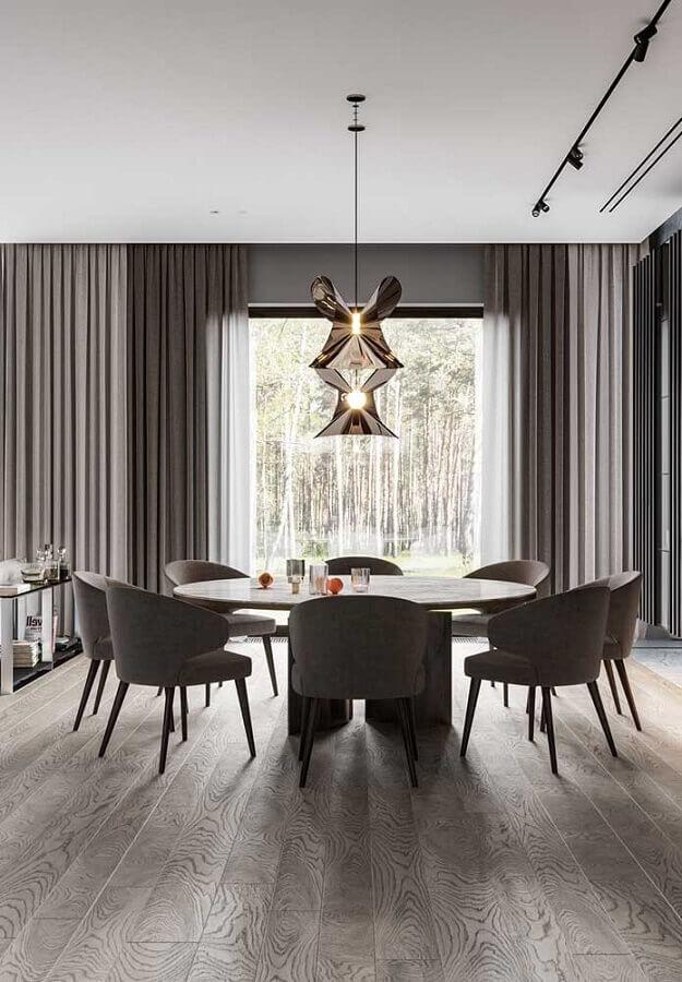 casas de luxo com sala de jantar moderna Foto Ideias Decor