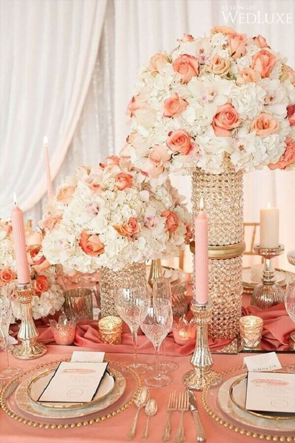 combination of colors for marriage with romantic style Foto Pinterest