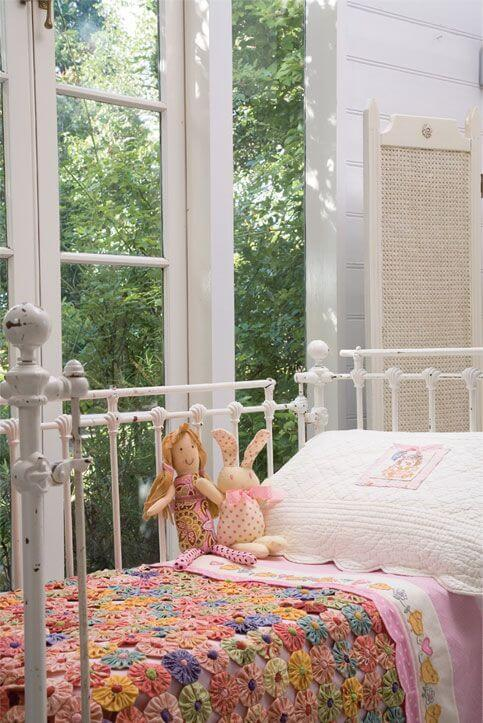 Como fazer fuxico para colcha infantil
