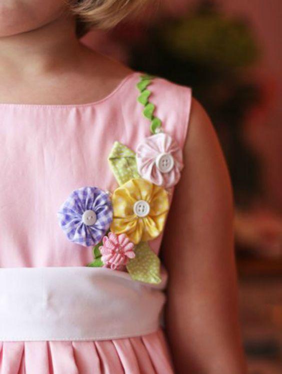 Como fazer fuxico para roupa infantil