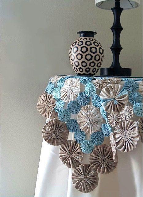 Como fazer fuxico para mesa de jantar