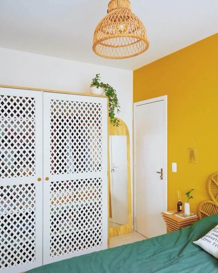 cor de tinta mostarda para parede de quarto Foto Karla Amadori