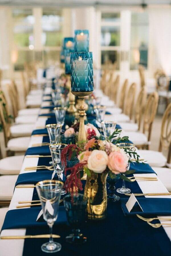 cores para casamento azul e branco Foto Sage Nines