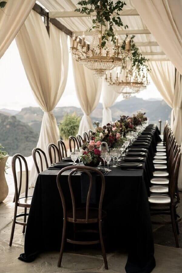 cores para casamento branco e preto Foto Junebug Weddings