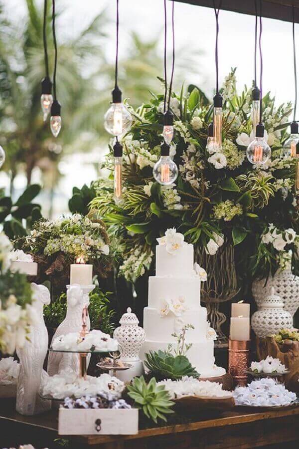 cores para casamento branco e verde Foto Constance Zahn