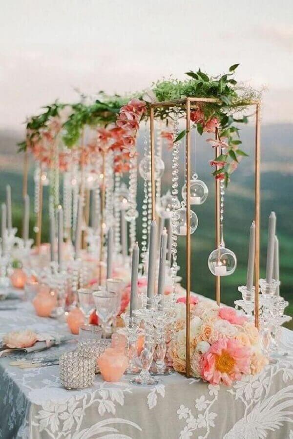 cores para festa de casamento com estilo romântico Foto Every Golden Detail - Weddings & Events