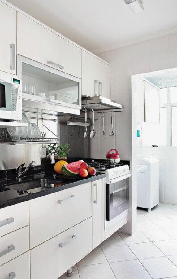 cozinha com lavanderia simples Foto Dicas Decor