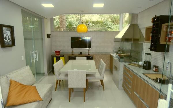 Cozinha gourmet com churrasqueira