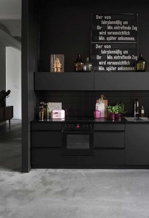 cozinha planejada preta Foto Decoração de Casa