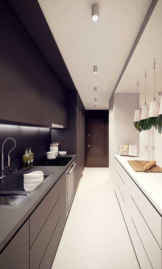 cozinhas modernas para decoração de cozinha planejada preta e branca Foto Pinterest
