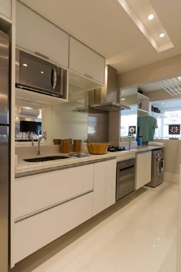 clean decor for integrated kitchen with laundry Photo You Need Decor
