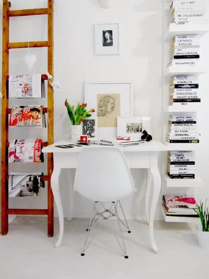 decoração clean para home office simples Foto Assetproject