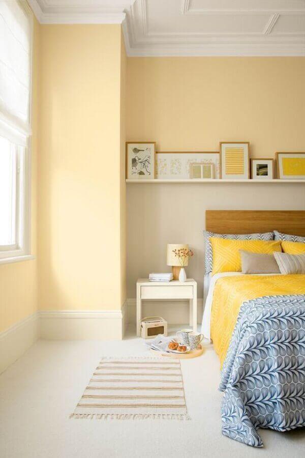 decoração clean para quarto amarelo e branco Foto A Casa Perfeita