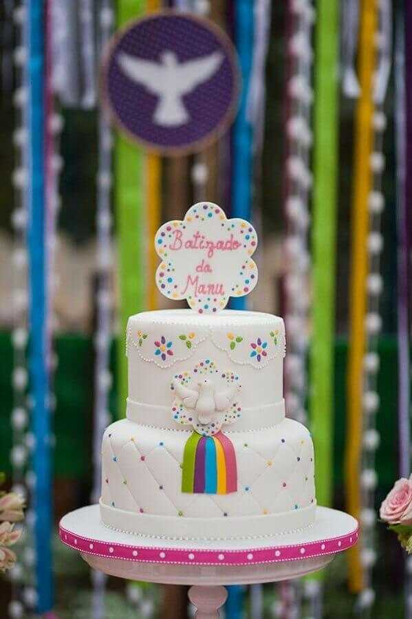 Colourful baby christening decoration Foto Pinterest