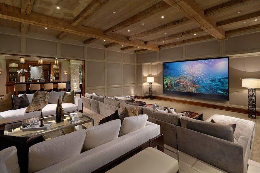 decoração de casas de luxo com sala de tv Foto Pinterest