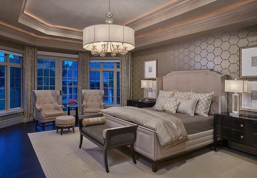 decoração de quarto de casal em casas de luxo Foto Pinterest