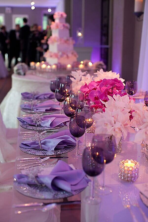 lilac decoration for wedding party Foto Yandex