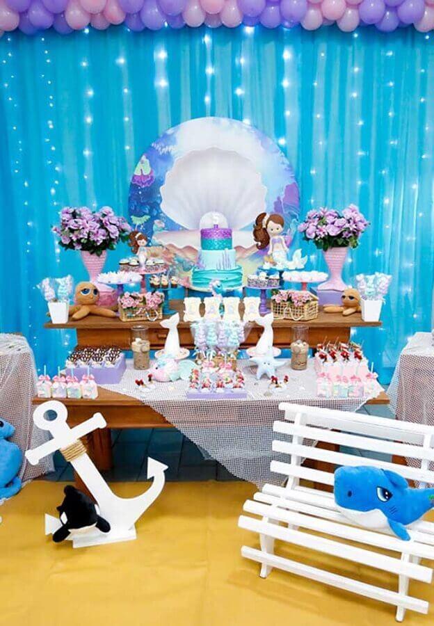 decoração festa infantil sereia  Foto Party Decor