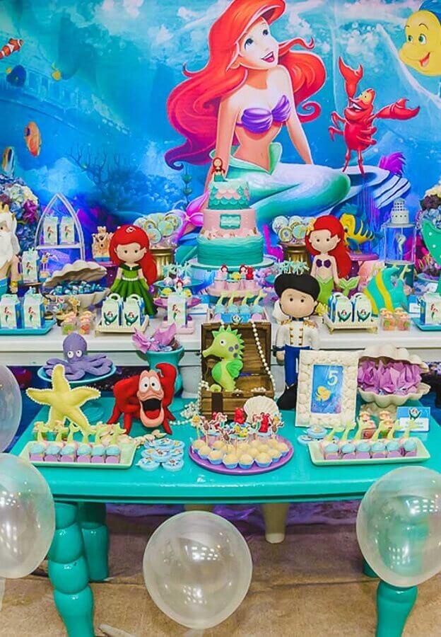 decoração festa pequena sereia Foto Pinterest