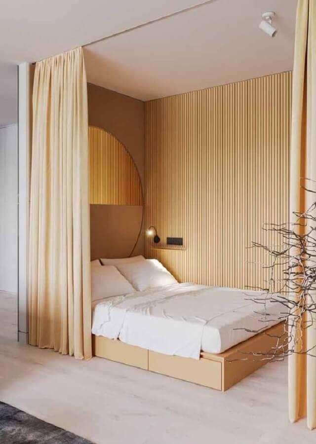 decoração minimalista para quarto amarelo claro Foto Pinterest