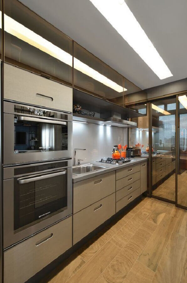 decoração moderna com armário de cozinha moderna Foto Architizer
