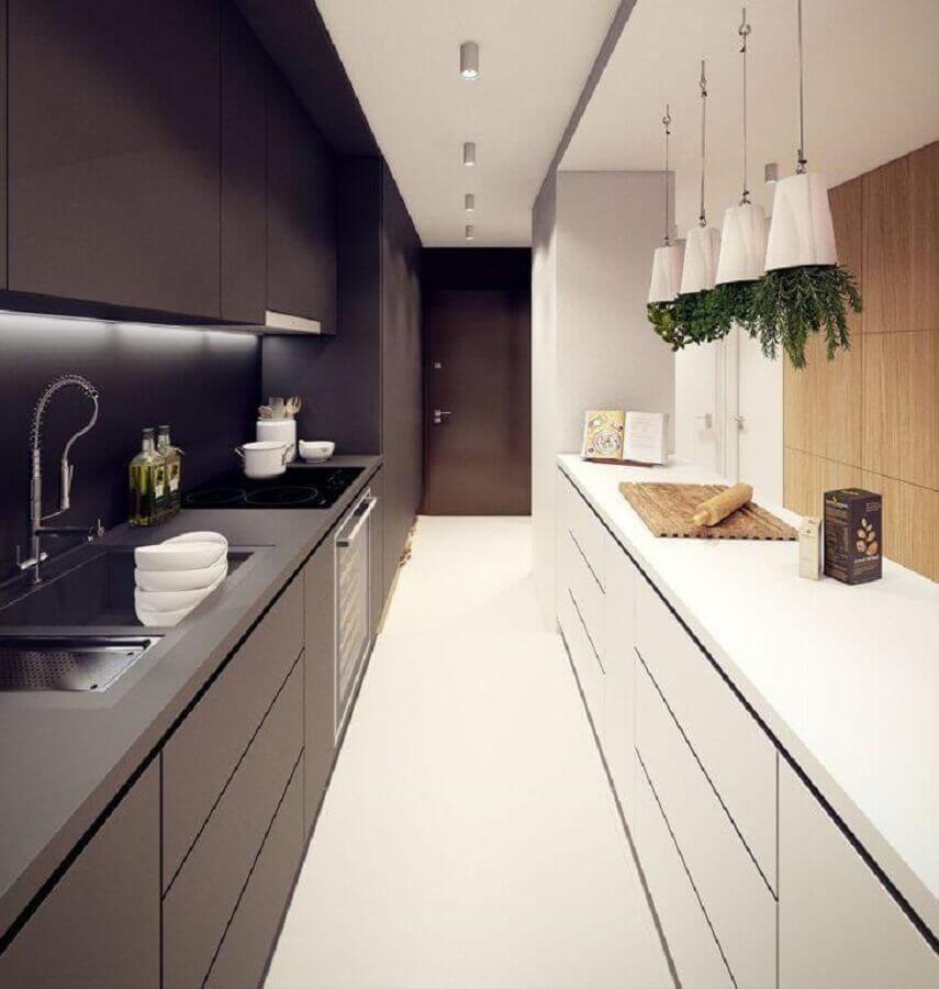 decoração moderna para cozinha preta e branca Foto Dicas Decor