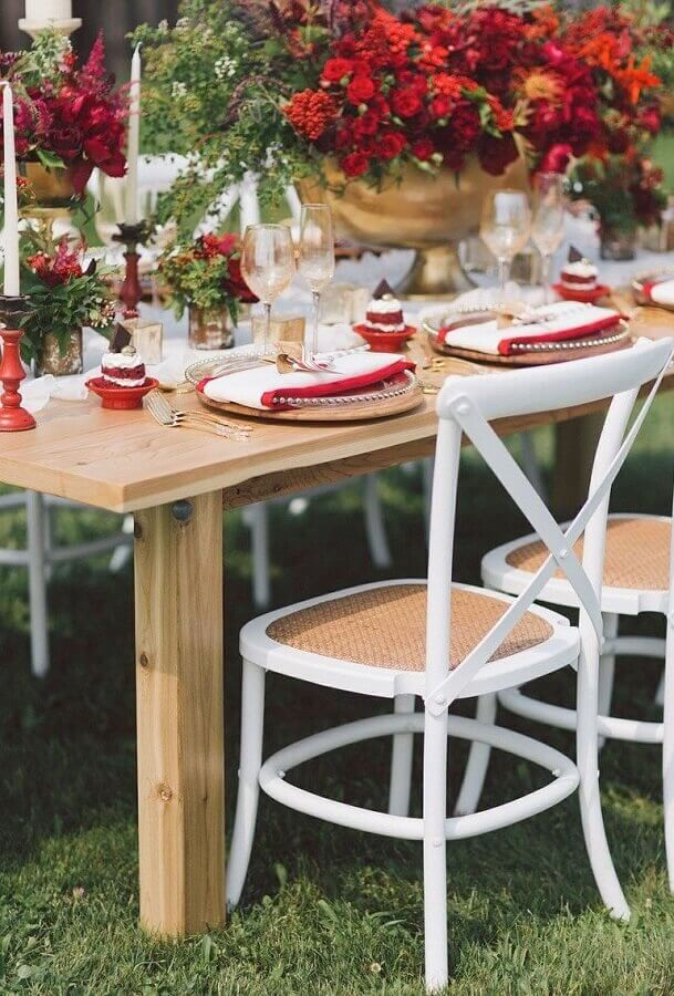 Wedding decoration with details in red Foto Pinterest