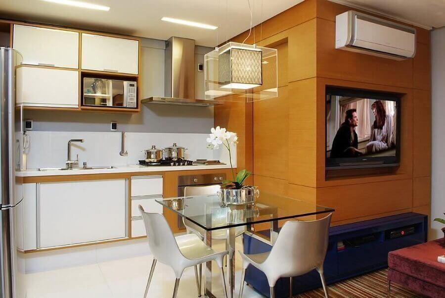 decoração para cozinha compacta com armários planejados Foto 3A do Brasil Arquitetura