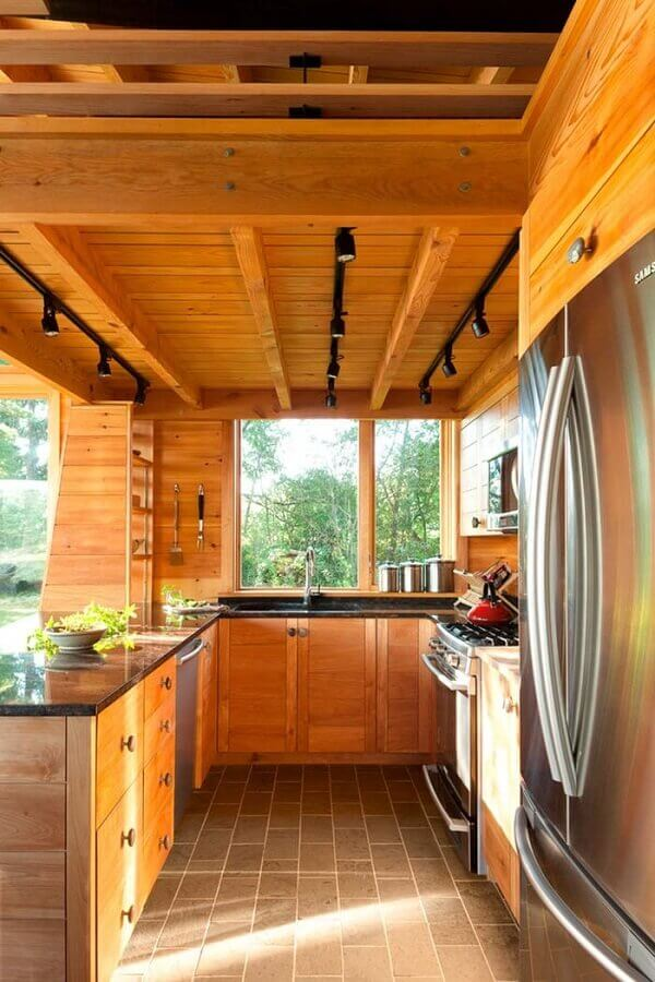 decoração para cozinha rústica Foto Houzz