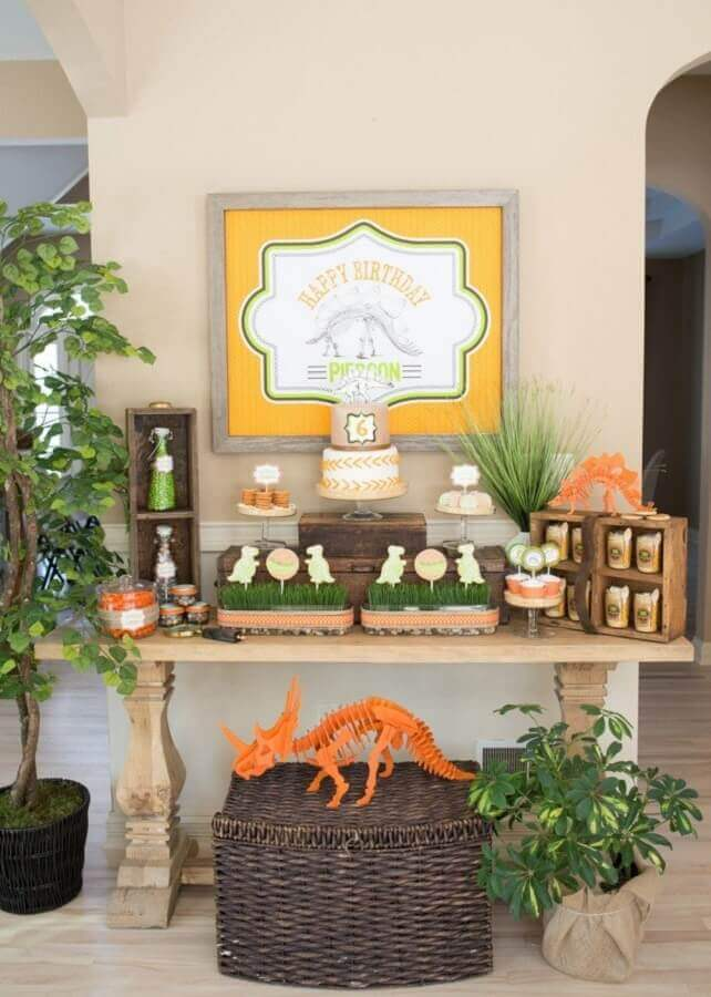 decoration for simple dinosaur birthday party Photo Sweet Party