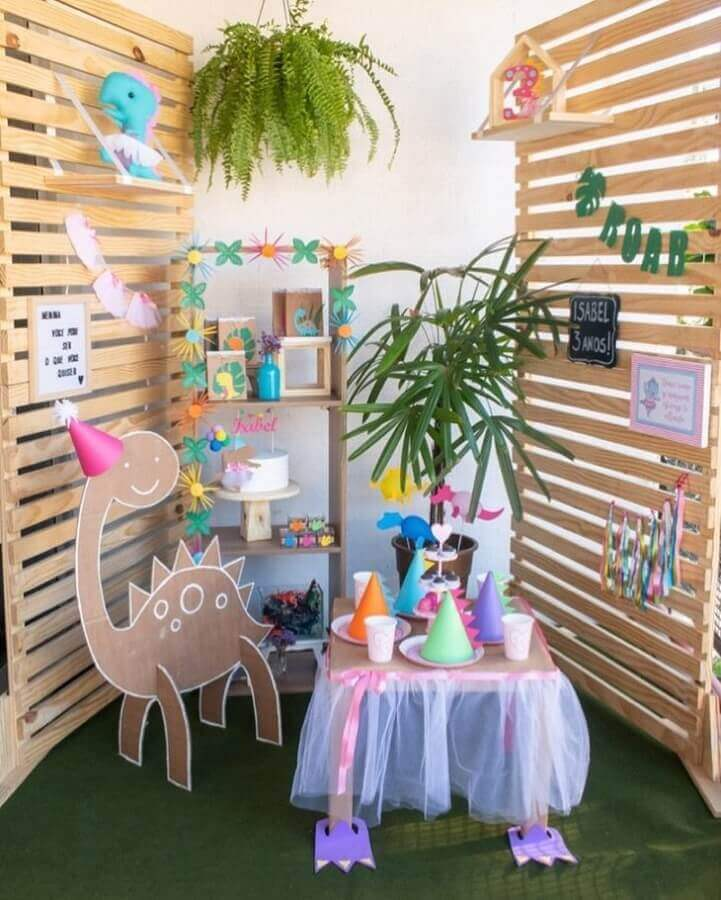dinosaur party decoration baby simple Photo Made by Dinda